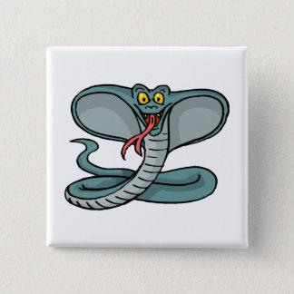 Happy Cobra Pinback Button