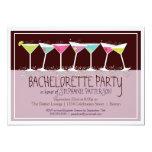 """Happy Cocktails Bachelorette Party Invitation 5"""" X 7"""" Invitation Card"""