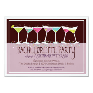 Happy Cocktails Bachelorette Party Invitation