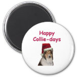 Happy Collie-days Refrigerator Magnet