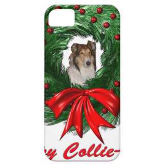 Happy Collie-days Wreath iPhone 5 Cover