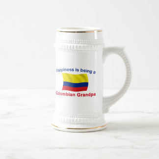 Happy Colombian Grandpa Beer Stein