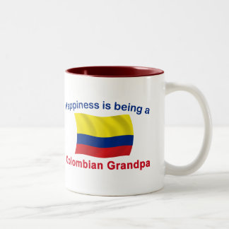 Happy Colombian Grandpa Two-Tone Coffee Mug