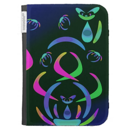 Happy Color Cats and Crabs Kindle Case
