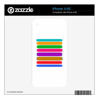 Happy Color therapy energy pattern iPhone 4 Decals