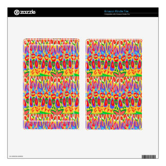 Happy Colorful Acrylic Abstract Spiritual Art gift Skins For Kindle Fire