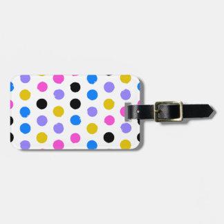 Happy,colorful,big polka dots,trendy,modern,girly, luggage tag