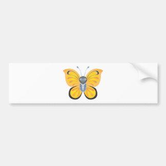 Happy Colorful Butterfly Cartoon Bumper Sticker