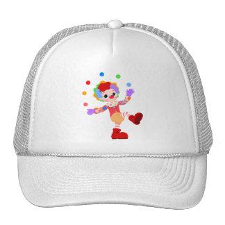 Happy Colorful Clown Boy Juggling Colorful Balls Trucker Hat