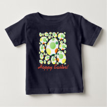 Happy & Colorful Easter Eggs Baby T-Shirt