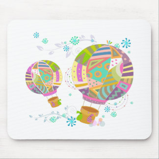 Happy Colorful Hot Air Ballon Mouse Pad