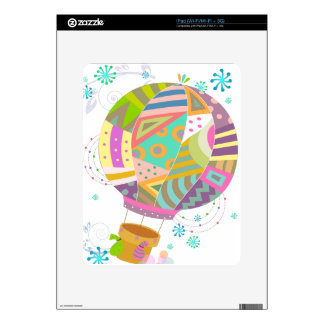 Happy Colorful Hot Air Ballon Skin For iPad