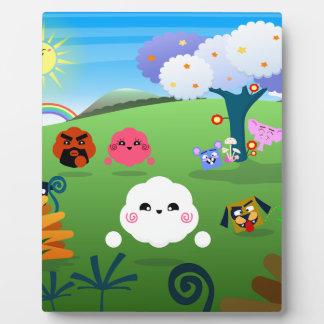 Happy Colorful Planet 01 Plaque
