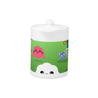 Happy Colorful Planet 01 Teapot