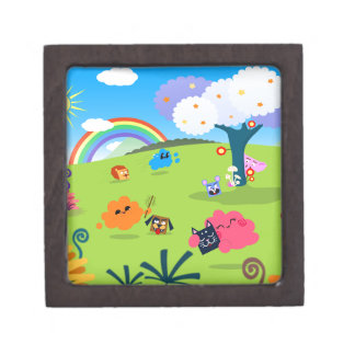 Happy Colorful Planet 02 Jewelry Box