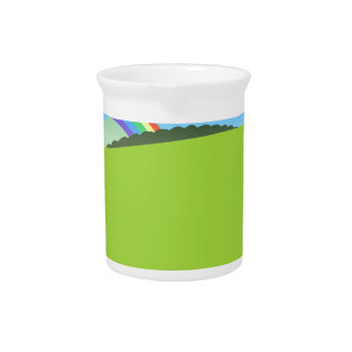 Happy Colorful Planet 03 Drink Pitcher