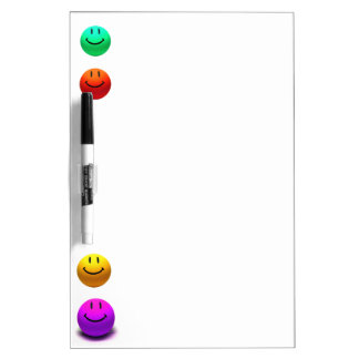 HAPPY COLORFUL SMILEYS, SMILEY FACES WRITING BOARD Dry-Erase WHITEBOARDS