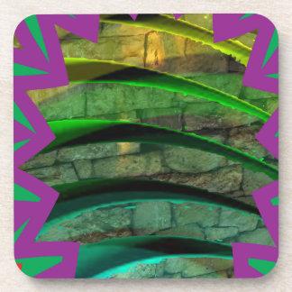 Happy Colorful Style: Hard Plastic coasters