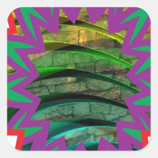 Happy Colorful t-Shirts Star graphic design gift Square Sticker