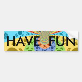 Happy Colors Bumper Sticker Template