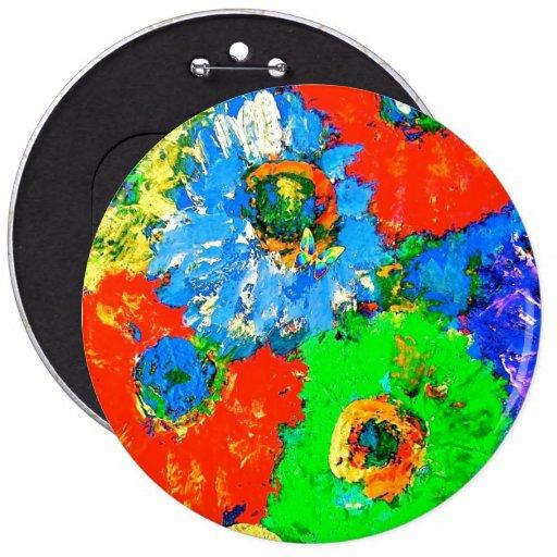 Happy Colors Fashion Button Pin