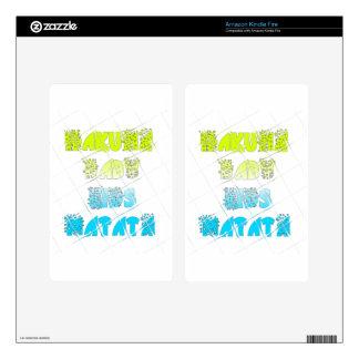 Happy Colors Hakuna Matata Hakunamatata Gift stars Kindle Fire Decals