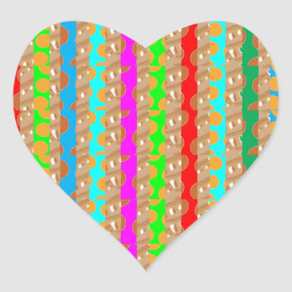 HAPPY COLORS HAPPINESS enhance with SHARING Heart Sticker