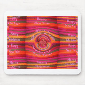 Happy Colors Merry Christmas Happy New Year  Desig Mouse Pad