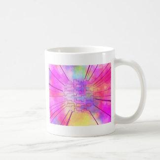 happy colors pink coffee mug