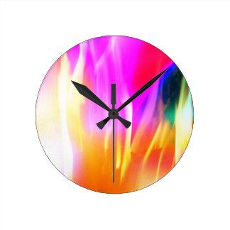 Happy Colors Round Clock