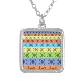 Happy Colors Square Pendant Necklace