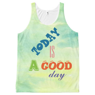 Happy Colors Today Is Good All-Over-Print Tank Top
