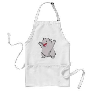 Happy Common Wombat Cartoon Adult Apron