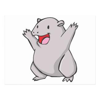 Happy Common Wombat Cartoon Postcard