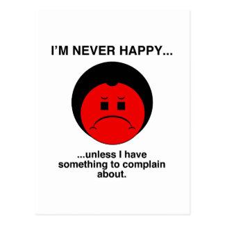 Happy Complainer Postcard
