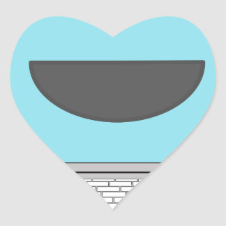 Happy Computer Heart Sticker