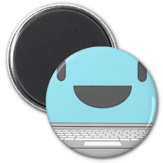 Happy Computer Magnet