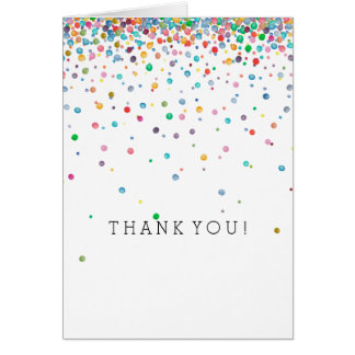 Happy Confetti Dots thank you Card