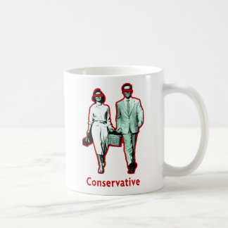 Happy Conservative Couple Classic White Coffee Mug
