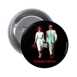 Happy Conservative Couple Pinback Button