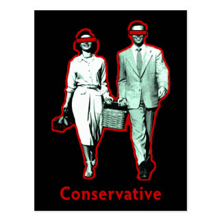 Happy Conservative Couple Postcard
