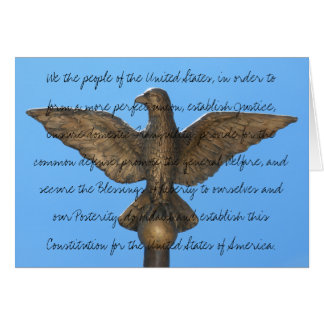 Happy Constitution Day (Because You Care) Card