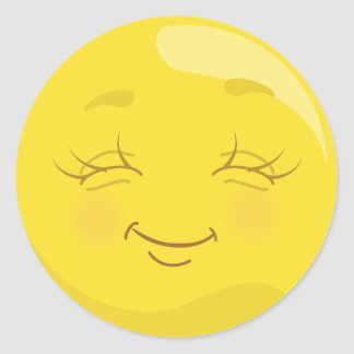 Happy & Content Yellow Emoji face Stickers