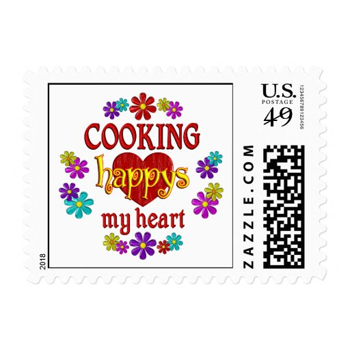 Happy Cooking Postage Stamps