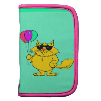 HAPPY COOL CAT WITH COLORFUL BALLOONS ORGANIZERS