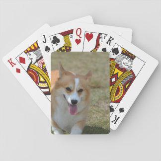 Happy Corgi Playing Cards