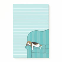 Happy Couch Beagle | Cute Dog Post-it Notes