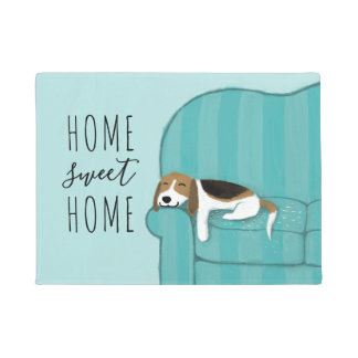Happy Couch Beagle Home Sweet Home Doormat