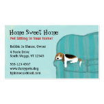 Happy Couch Dog Double-Sided Standard Business Cards (Pack Of 100)