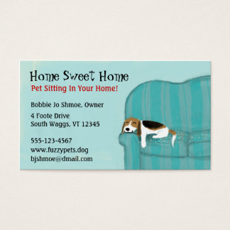 Happy Couch Dog Business Card
